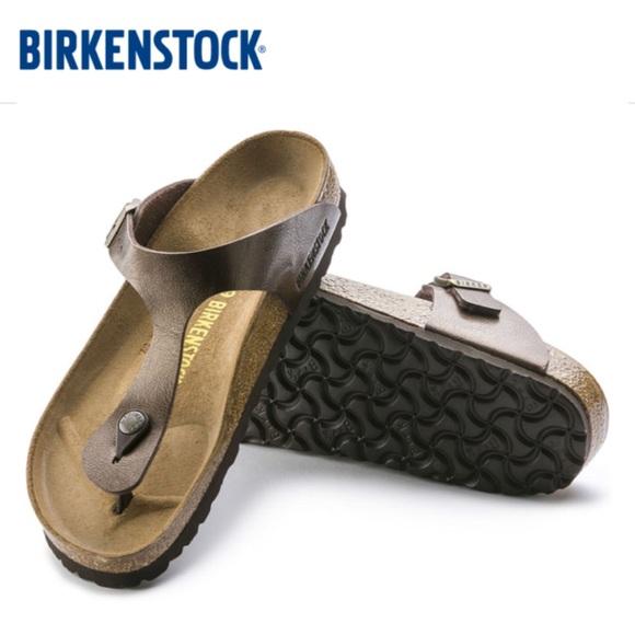 02e631130 Birkenstock Shoes - Birkenstock Gizeh Sandals in Toffee Brown Sz 39